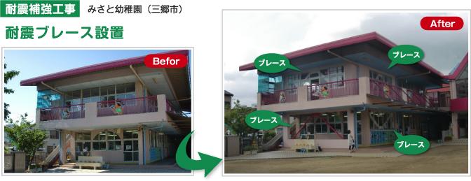 耐震補強工事 みさと幼稚園(三郷市)